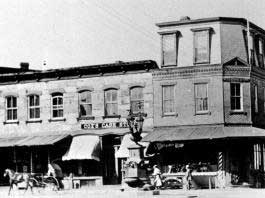 A picture of Bentley's as it was at the turn of the century. See the horse drawn carriage in the foreground?